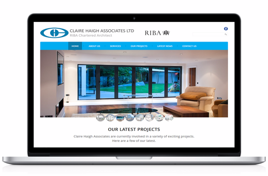 Claire Haigh Architects Website Screenshot